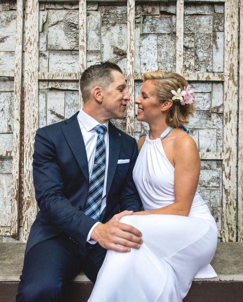 Tessa Bonhomme with her spouse Eddie Fiore.