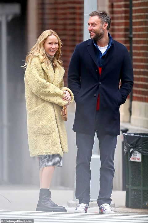 Cooke Maroney with his partner Jennifer Lawrence