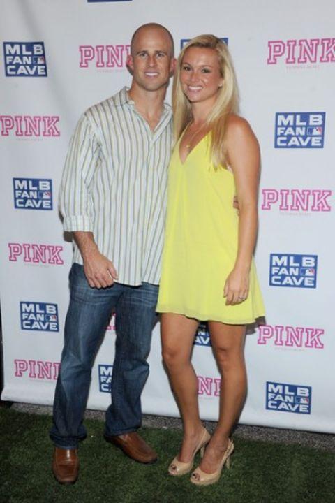 Jessica Clendenin with her spouse Brett Gardner