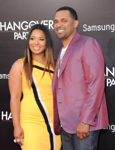 Mike Epps with his first spouse Mechelle Epps