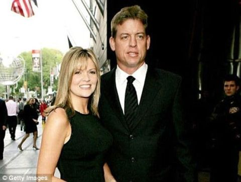 Rhonda Worthey with her former husband Troy Aikman
