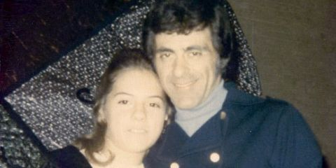 Francine Valli poses with her dad Frankie Valli.