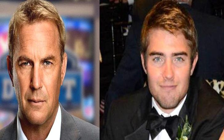 Liam Costner in right and father Kevin Costner in left.