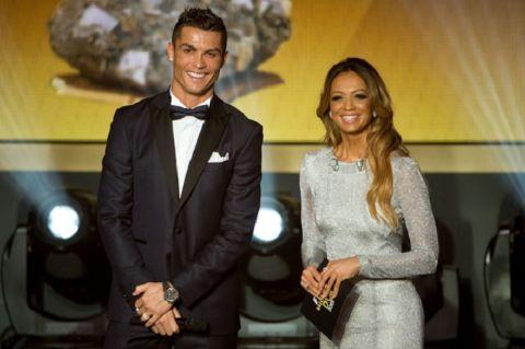 Ramtin Abdo's ex-wife Kate Abdo poses a picture with Juventus star Cristiano Ronaldo.