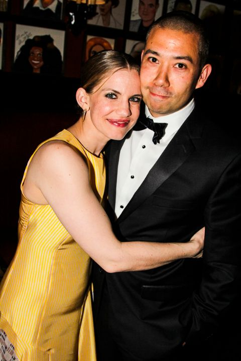 Shaun So poses with wife Anna Chlumsky for a picture.