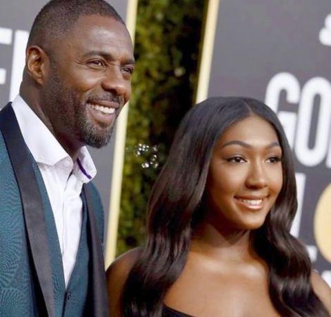 Isan Elba with her dad Idris Elba