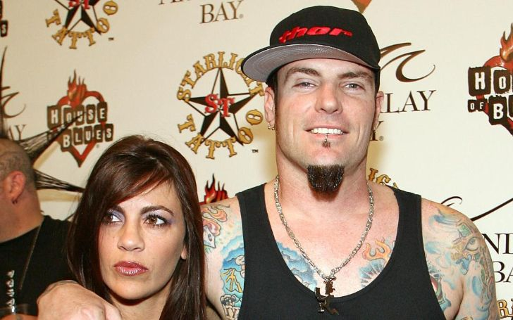 Laura Giaritta poses with her ex-husband Vanilla Ice.