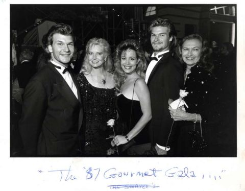 Sean Kyle Swayze alongside his brother Patrick Swayze and others.