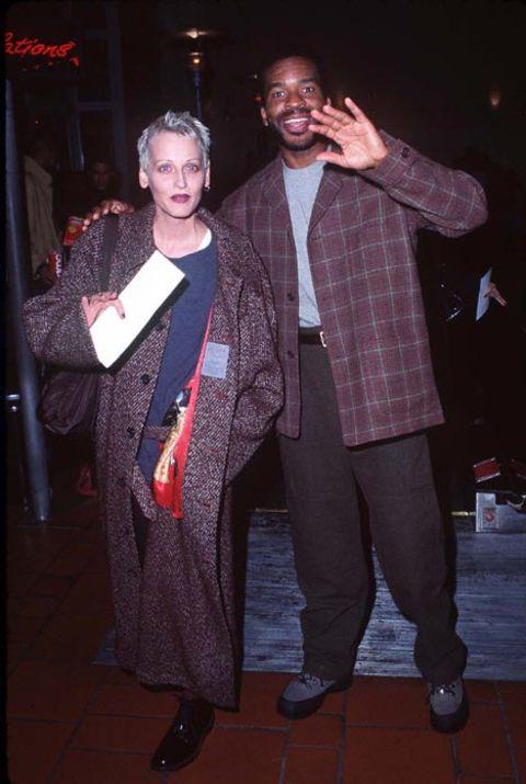 Lori Petty poses with ex-boyfriend David Alan Grier.