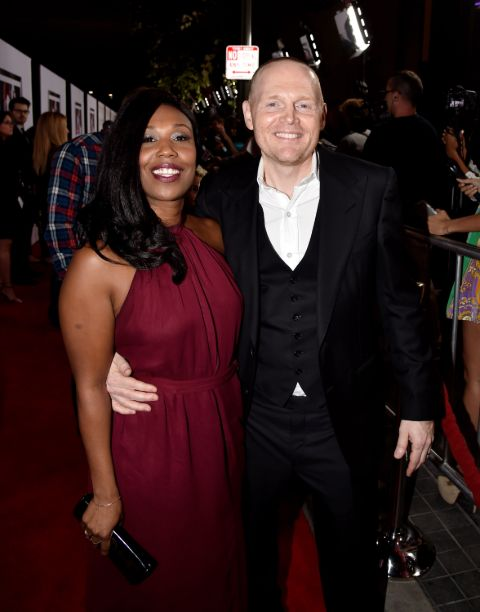 Lola Burr's parents Bill Burr and Nia at an event.
