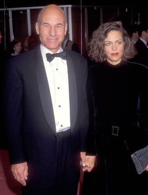 Sheila Falconer's husband Patrick Stewart poses with wife.
