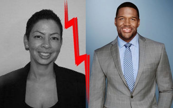 Wanda Hutchings in left and ex-husband Michael Strahan in right.