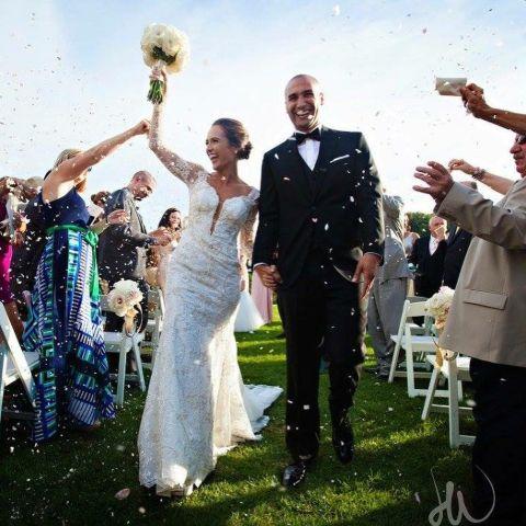 Nikki Battiste and Dean Simpson at their wedding