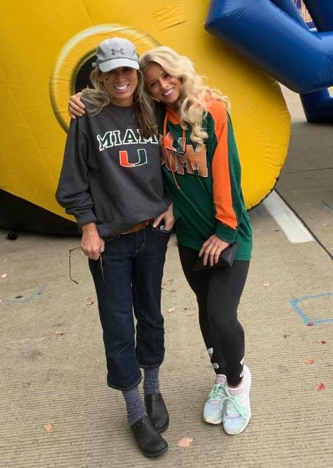 Kaley Fedko poses a picture with her mother.