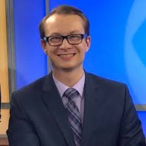 Josh Croup anchors evening and morning news