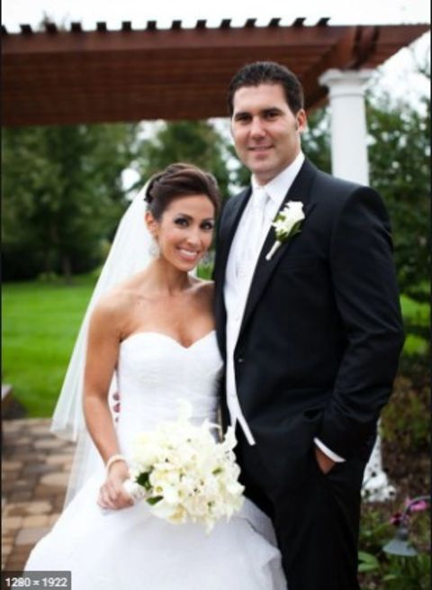 Lauren Simonetti with her spouse Mark Cubrilo.