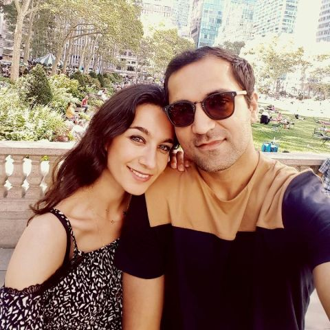 Yalda Hakim with her spouse Abed Rashid