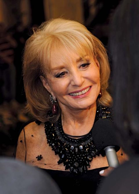 Barbara Walters smiles for a picture.