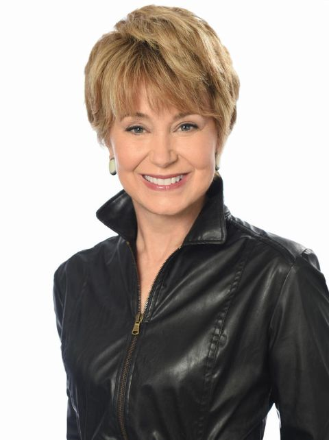 Jane Pauley in a black jacket poses for a picture.