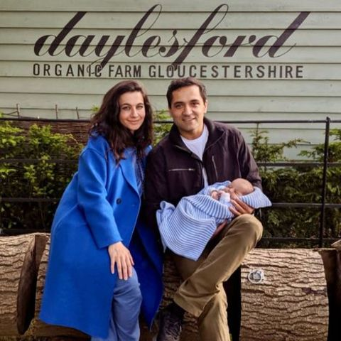 Yalda Hakim with her husband Abed Rashid and their newborn