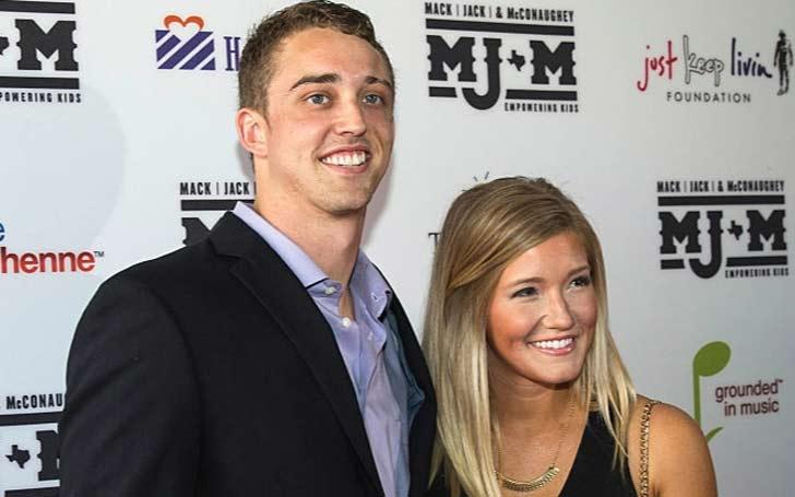 Rachel Glandorf McCoy poses with her husband Colt McCoy.