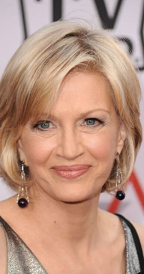 Diane Sawyer smiles at the camera.