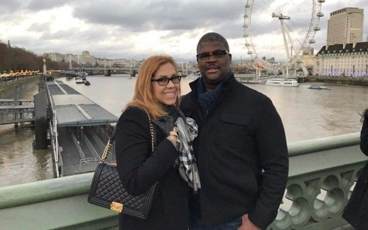 Yvonne Payne in left poses a picture with her boyfriend Charles Payne.