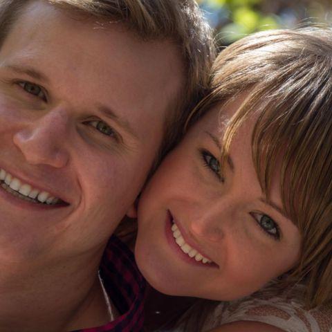 Briana Altergott poses with her husband Christopher Koeneman.