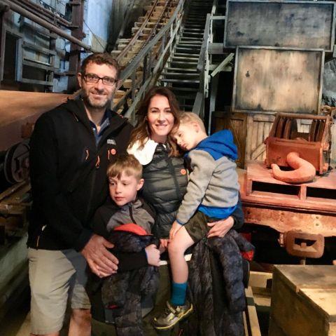Kristi Gordon with her husband and kids