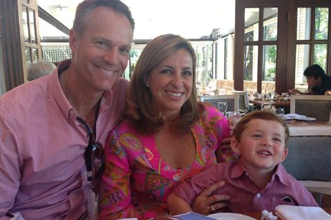 Chris Gailus poses a picture with wife Jane Carrigan and their son William Gailus.