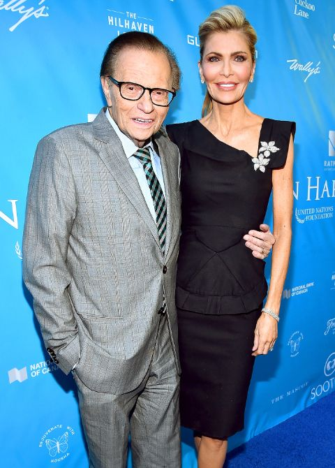 Larry King poses a picture with ex-wife Shawn Southwick.