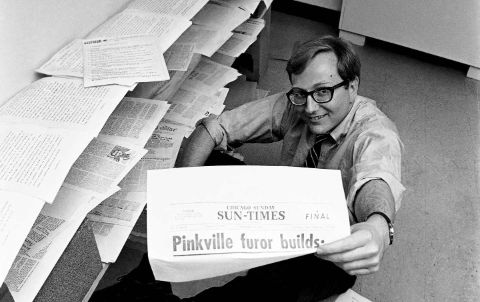 Seymour Hersh poses for a picture.