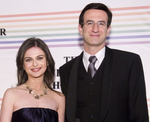 Bianna Golodryga poses a picture with her husband Peter R. Orszag.