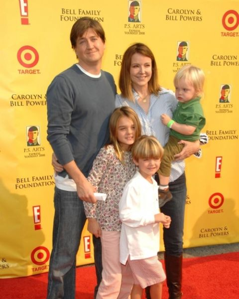 Christa Miller, her husband and family