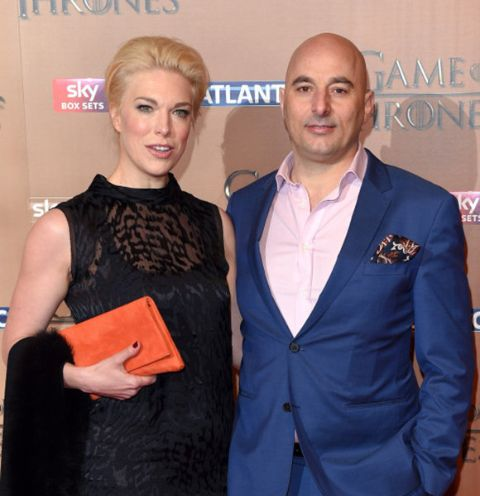 Gianluca Cugnetto and his partner Hannah Waddingham