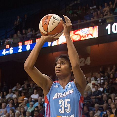 Angel McCoughtry is a WNBA player