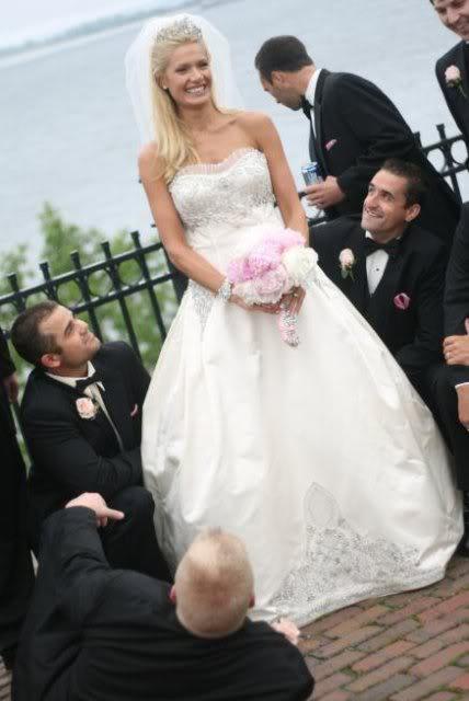 Janelle Pierzina during her wedding