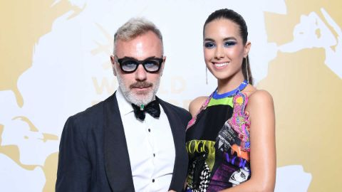 Sharon Fonseca and her boyfriend Gianluca Vacchi