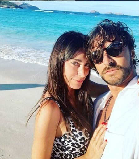 Andrea Grilli and his Instagram star Giorgia Gabriele pose for a picture.