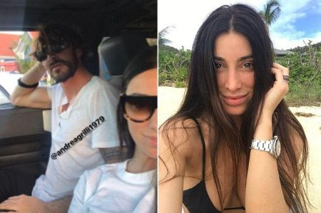 Giorgia Gabriele and her boyfriend Andrea Grilli pose for a picture.