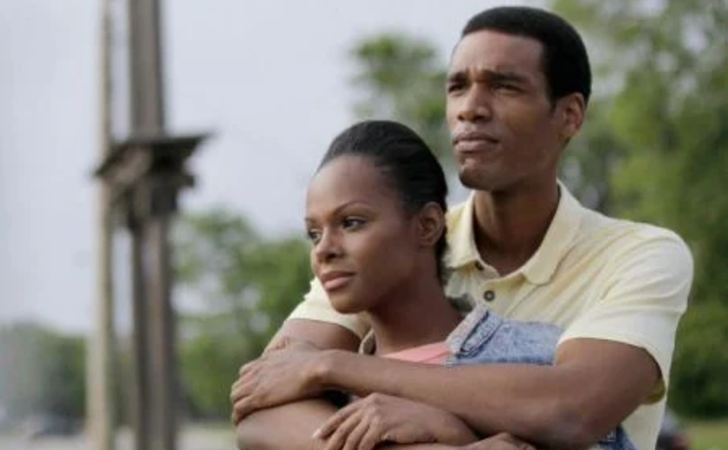 Edita Ubartaite and Parker Sawyers caught on the camera while hugging.