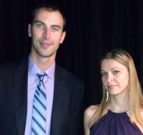 Tatiana Biskupicova and her husband