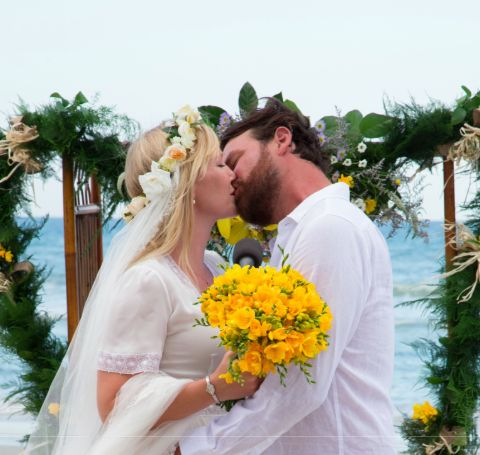 Lawrence Faulborn and his spouse took their vows in front of their parents in Florida on June 20, 2015