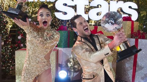 Val Chmerkovskiy winning the reality show Dancing with the stars