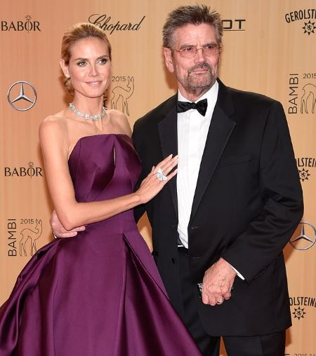 Gunther Klum and his daughter Heidi Klum