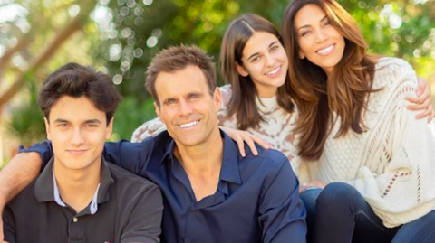 Cameron Mathison and his wife and kids