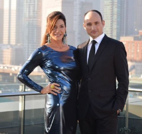 Logan Visentin's dad, David Visentin with his co-host Hilary Farr.