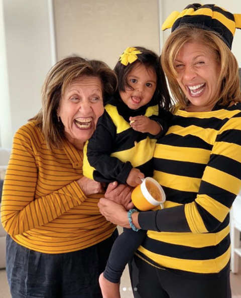 Sameha Kotb with her daughter and grand child.