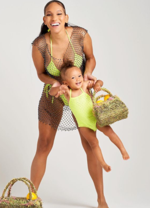 Porsha Nicole with her daughter