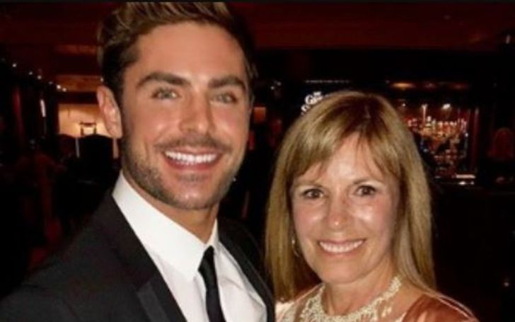 Starla Baskett and her son Zac Efron